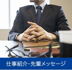 仕事紹介・先輩メッセージ
